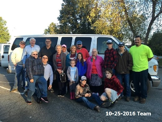 Lumberton Flood Relief Volunteer Team-10-25-2016